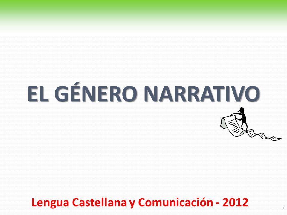 EL GÉNERO NARRATIVO Lengua Castellana y Comunicación - 2012. 1