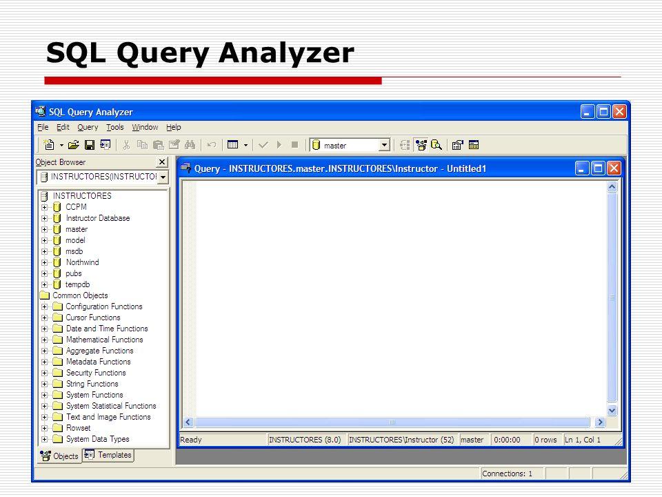 SQL Query Analyzer