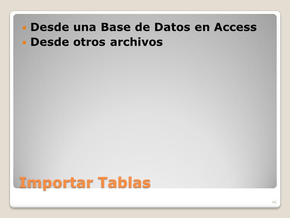 Importar Tablas Desde una Base de Datos en Access Desde otros archivos 66