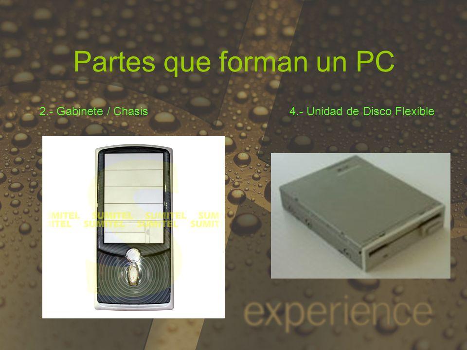 Partes que forman un PC 6.- Memoria RAM 7.- Disco Duro 5.- Microprocesador