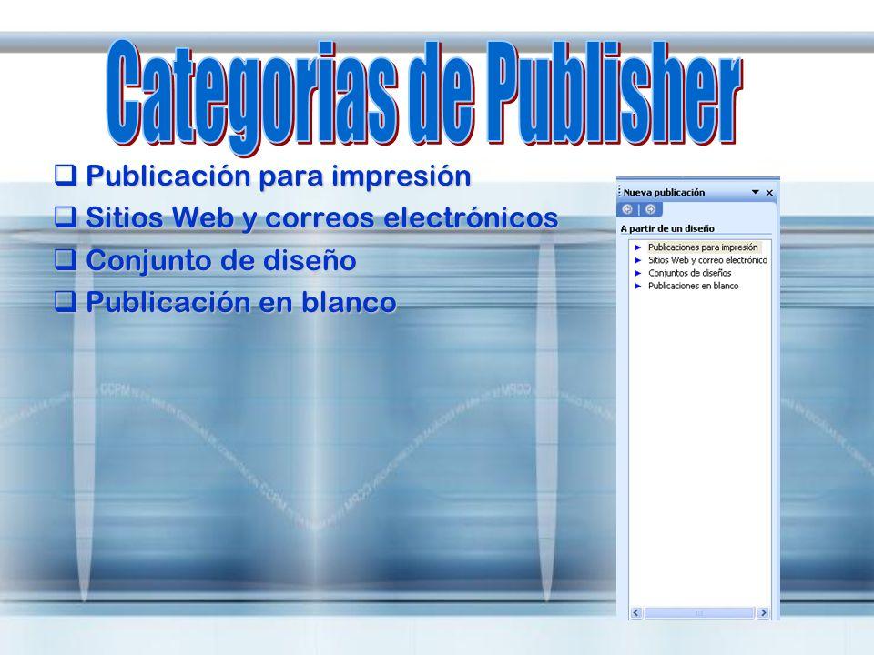 Publicación para impresión Publicación para impresión Sitios Web y correos electrónicos Sitios Web y correos electrónicos Conjunto de diseño Conjunto