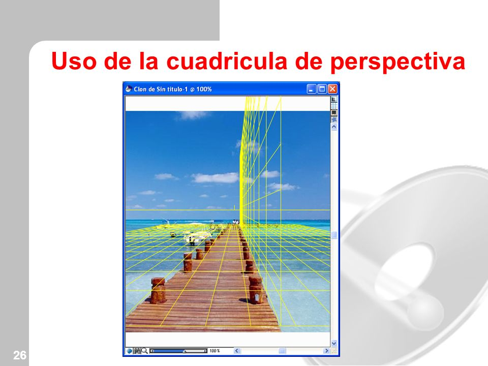 26 Uso de la cuadricula de perspectiva