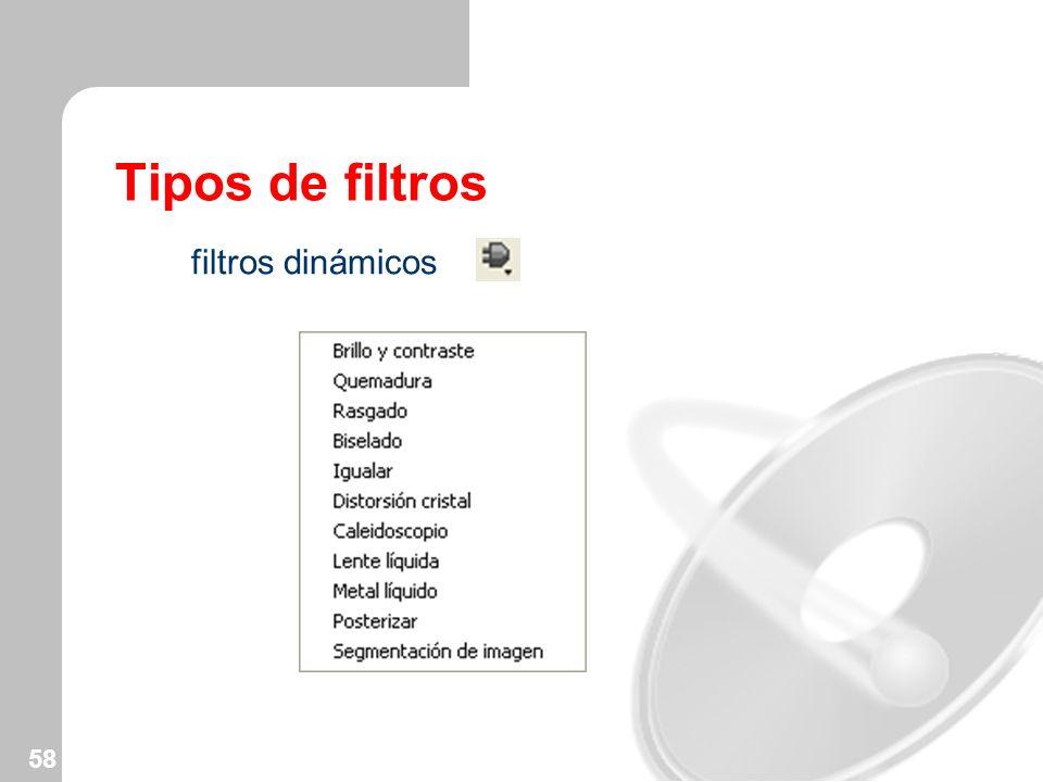 58 Tipos de filtros filtros dinámicos