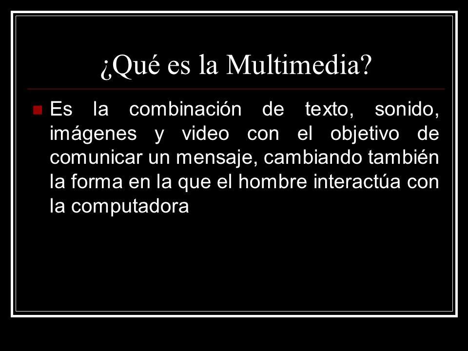 Multimedia Interactiva Es cuando el usuario controla ciertos elementos y decide cuando aparezcan Ejemplo un video juego o un conjunto de programas