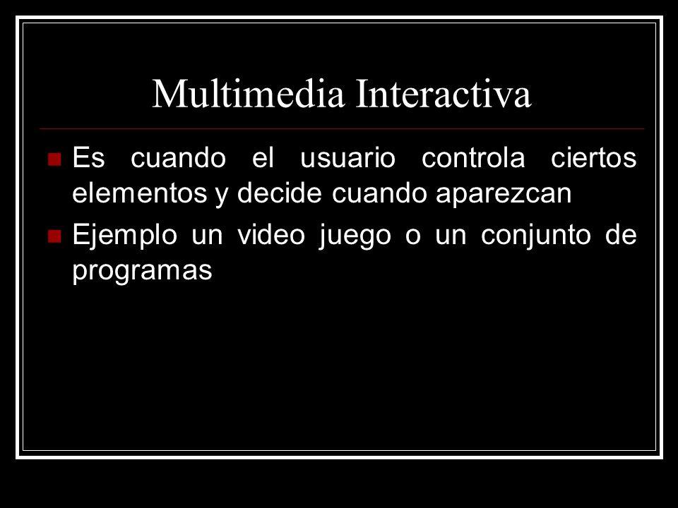 Hipermedia Es cuando se proporciona al usuario una estructura de elementos interconectados con los cuales puede navegar a sitios fuera de la aplicación Ejemplo claro una enciclopedia virtual o el mismo internet
