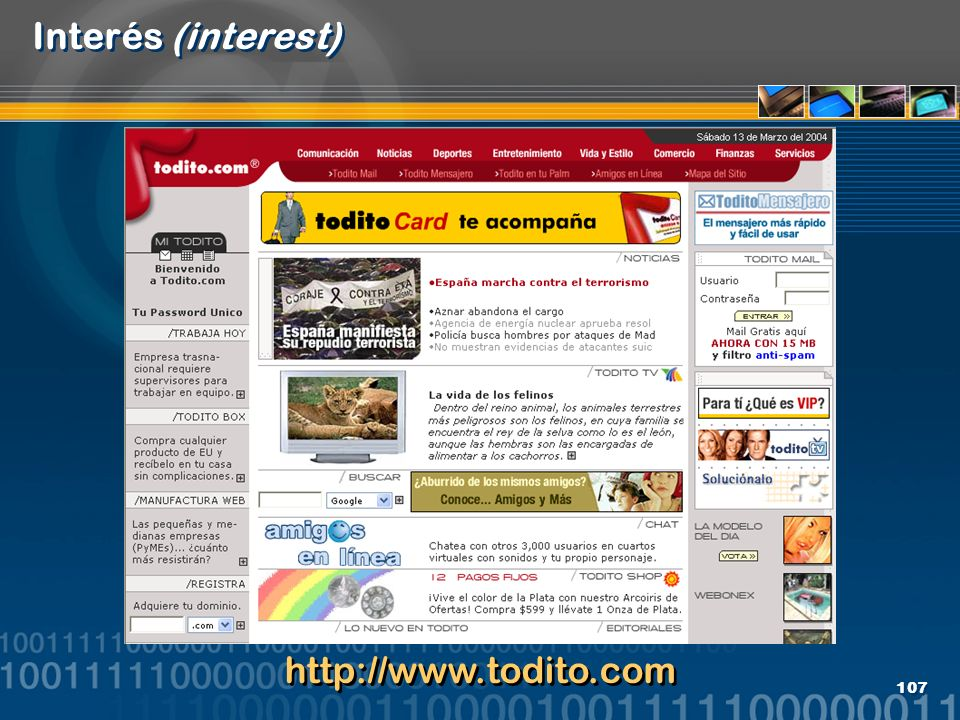 107 Interés (interest) http://www.todito.com