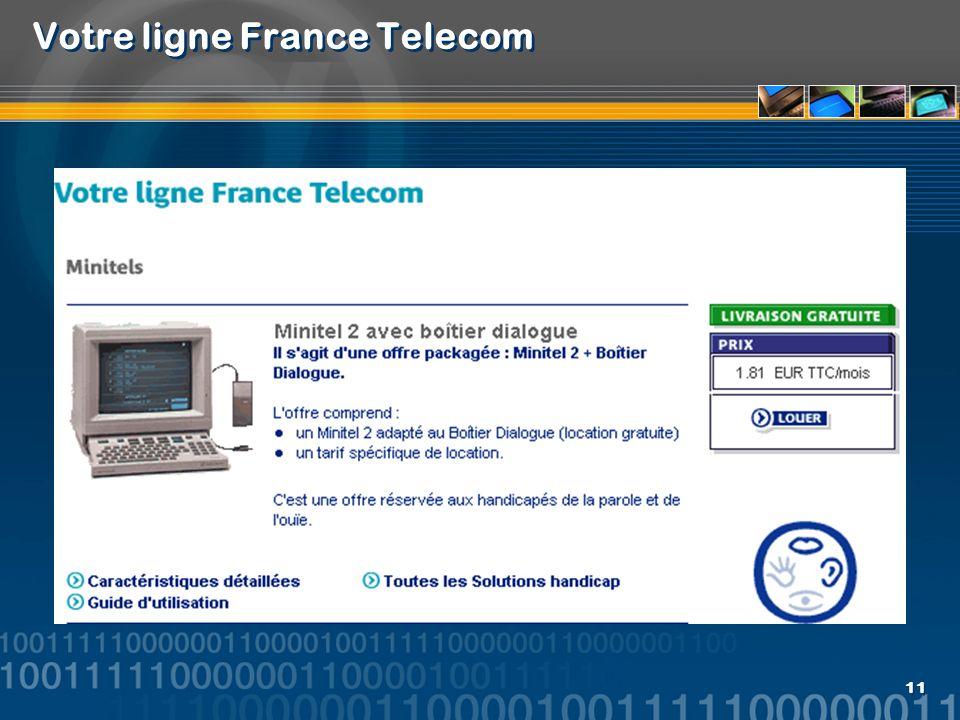 11 Votre ligne France Telecom