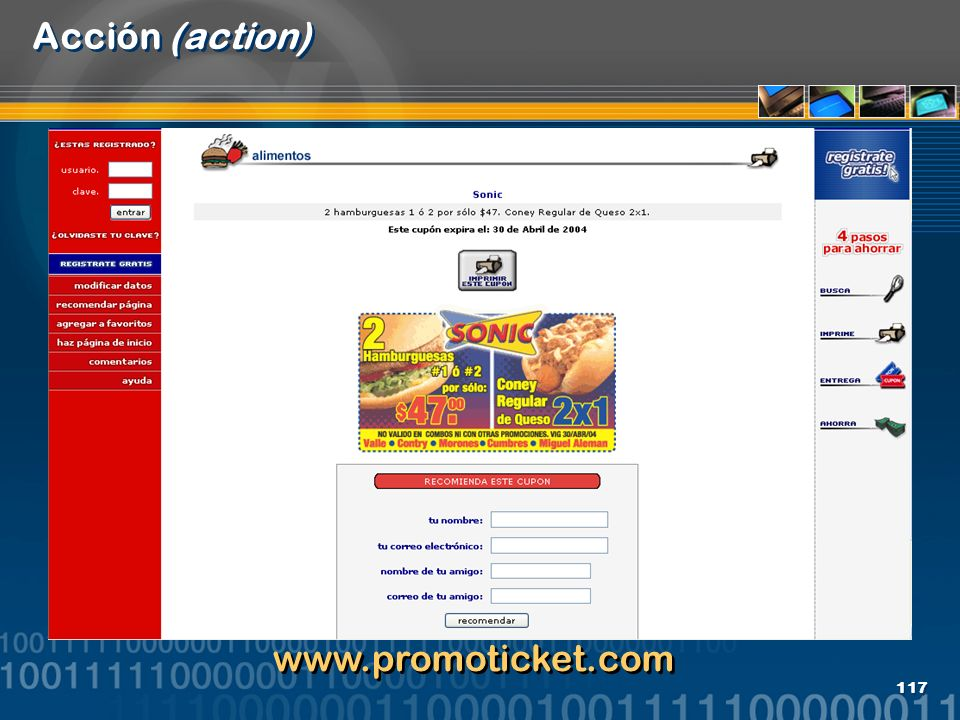 117 Acción (action) www.promoticket.com