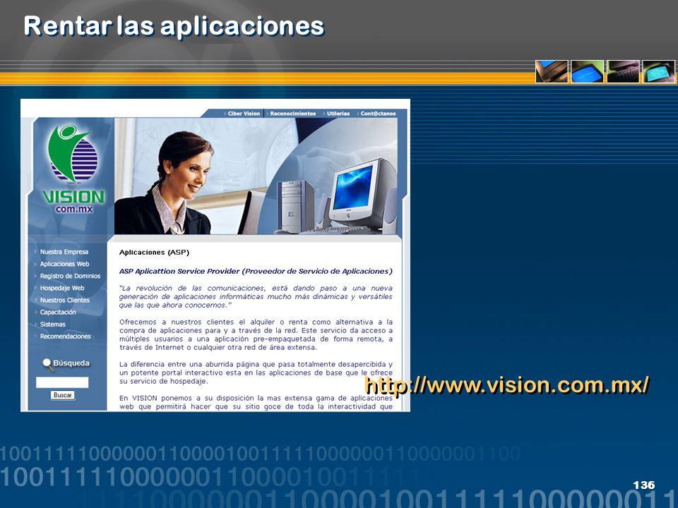 136 Rentar las aplicaciones http://www.vision.com.mx/
