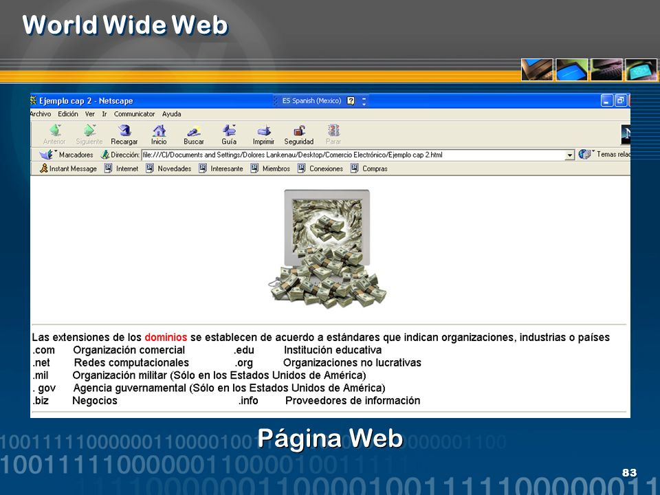 83 World Wide Web Página Web