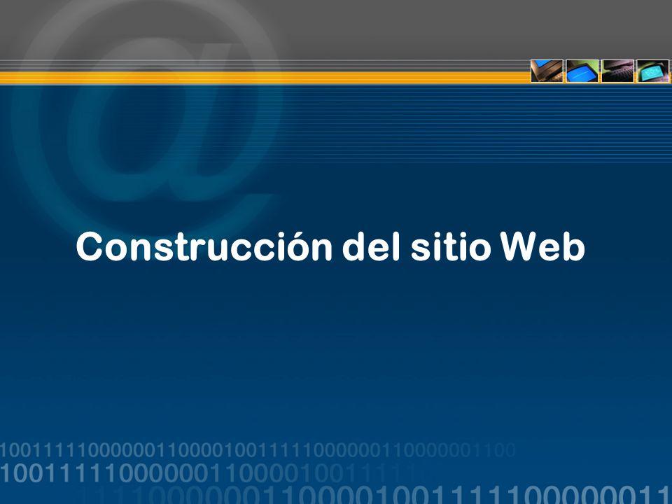 Construcción del sitio Web