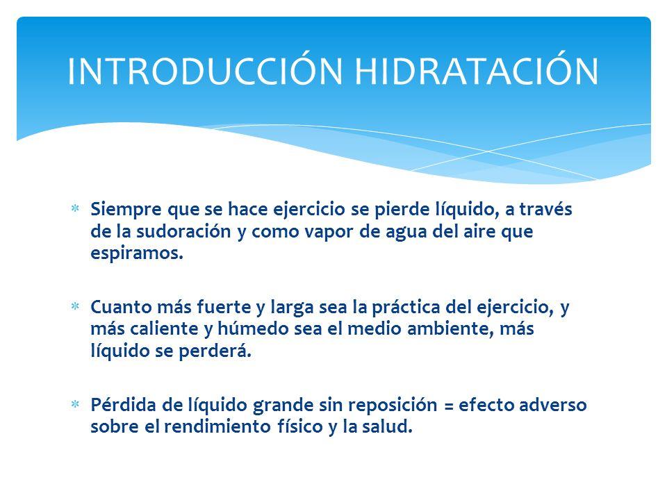 Aunque el agua sola se absorbe con relativa rapidez, la velocidad puede según la concentración de azúcar del líquido.