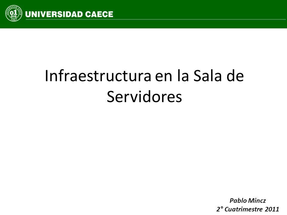 Infraestructura en la Sala de Servidores Pablo Mincz 2° Cuatrimestre 2011