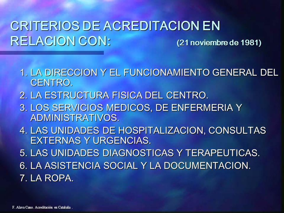 -NORMA DE OBLIGADO CUMPLIMIENTO PARA LOS CENTROS HOSPITALARIOS Y SERVICIOS QUE SOLICITEN AUTORIZACION ADMINISTRATIVA. F. Alava Cano. Acreditación en C