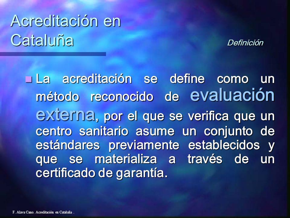 Año 2000 ( Orden 19-diciembre-2000 ) Creación del Consell Asesor de Calidad Asistencial, del Departamento de Sanidad y Seguridad Social. Año 2000 ( Or