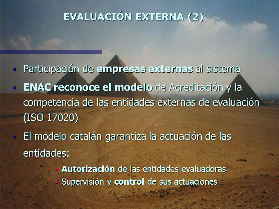 EVALUACIÓN EXTERNA (1) EVALUACIÓN EXTERNA (1) Consubstancial al proceso de Acreditación Consubstancial al proceso de Acreditación Punto básico del pro
