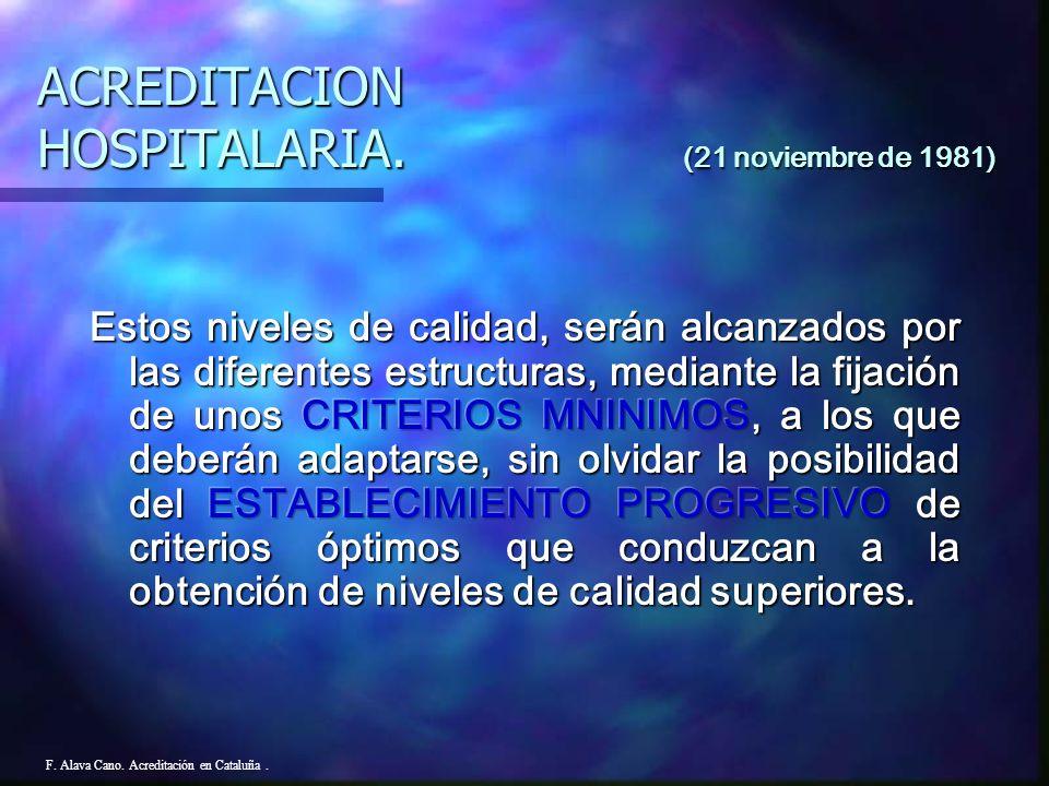 F. Alava Cano. Acreditación en Cataluña.