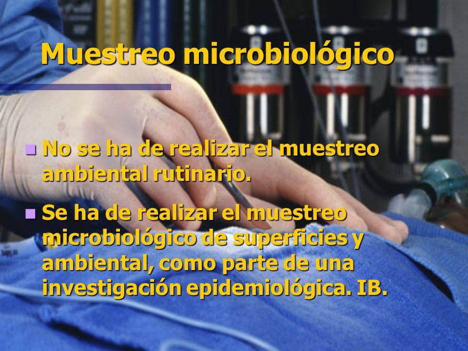 Limpieza y desinfección de superficies Manchas de sangre y fluidos. IB. Manchas de sangre y fluidos. IB. No limpieza especial o cierre de quirófanos s
