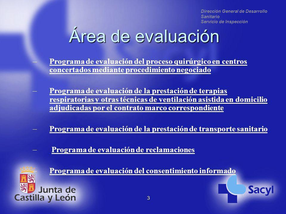 Dirección General de Desarrollo Sanitario Servicio de Inspección 4 Área de responsabilidad sanitaria –Programa de responsabilidad sanitariaPrograma de responsabilidad sanitaria
