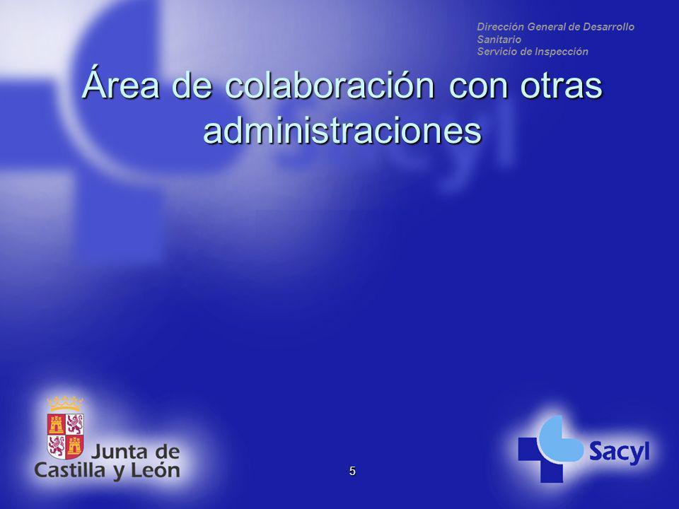 Dirección General de Desarrollo Sanitario Servicio de Inspección Área de colaboración con otras administraciones 5