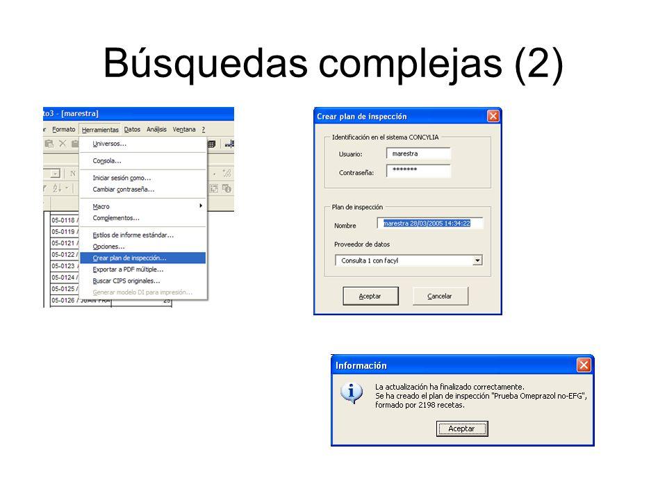 Búsquedas complejas (2)