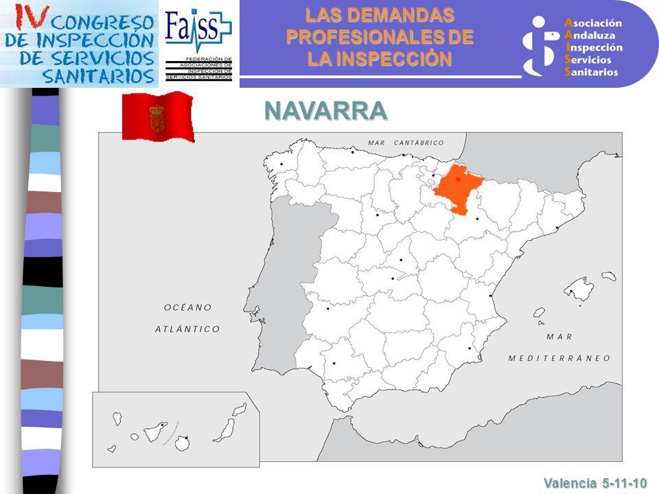 LAS DEMANDAS PROFESIONALES DE LA INSPECCIÓN Valencia 5-11-10 NAVARRA