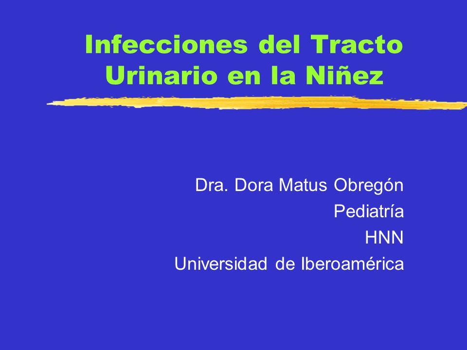 Infecciones del Tracto Urinario Significativa morbilidad, incluyendo daño renal irreversible Requiere identificación y manejo temprano y adecuado