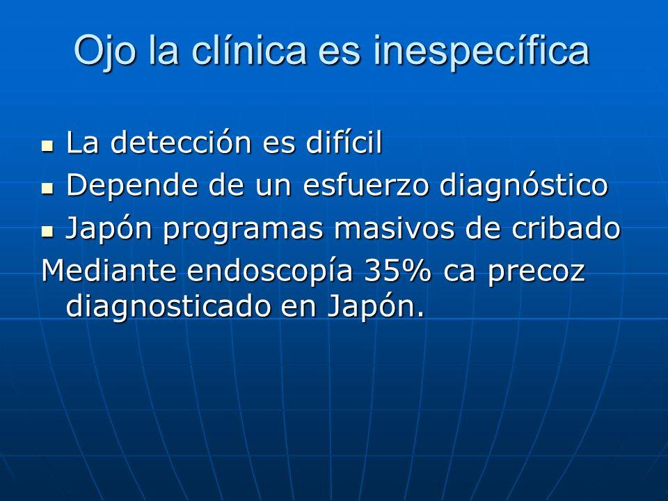 Ojo la clínica es inespecífica La detección es difícil La detección es difícil Depende de un esfuerzo diagnóstico Depende de un esfuerzo diagnóstico J