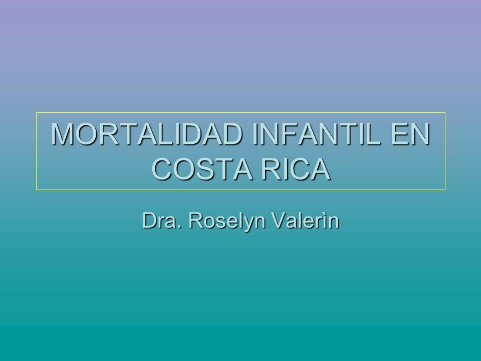 MORTALIDAD INFANTIL EN COSTA RICA Dra. Roselyn Valerìn