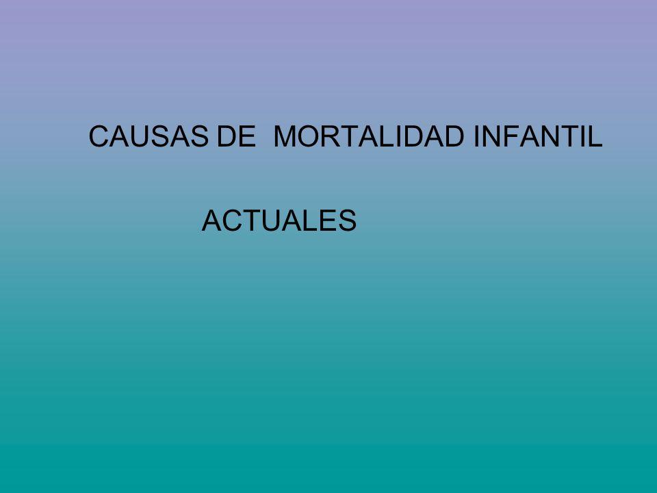 CAUSAS DE MORTALIDAD INFANTIL ACTUALES