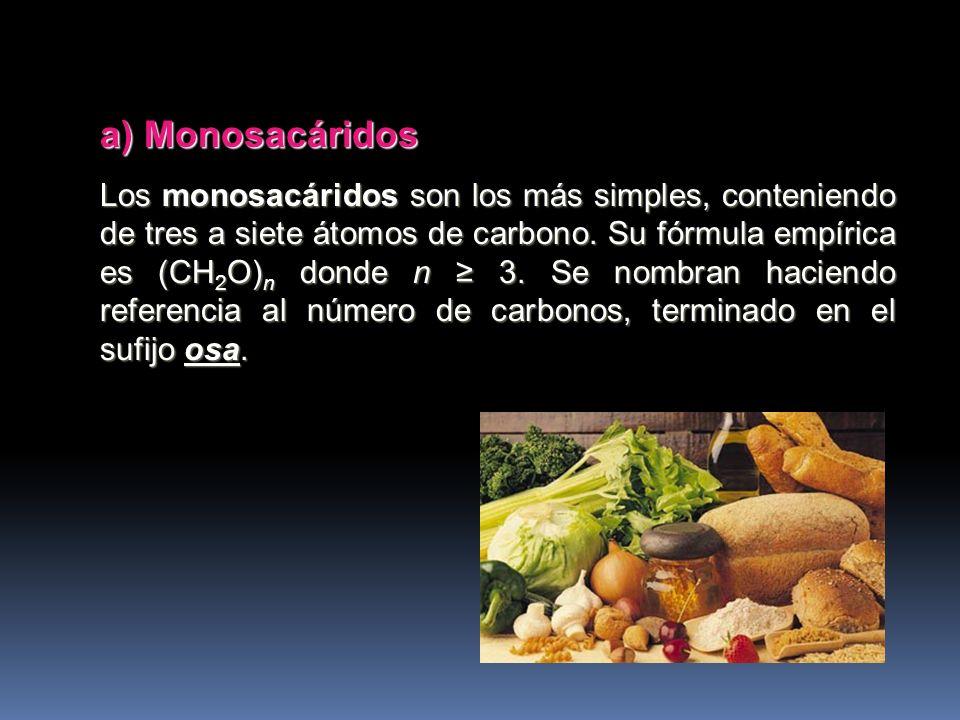 A) Monosacáridos B) Disacáridos C) Oligosacáridos D) Polisacáridos Según el número de moléculas Según el número de moléculas