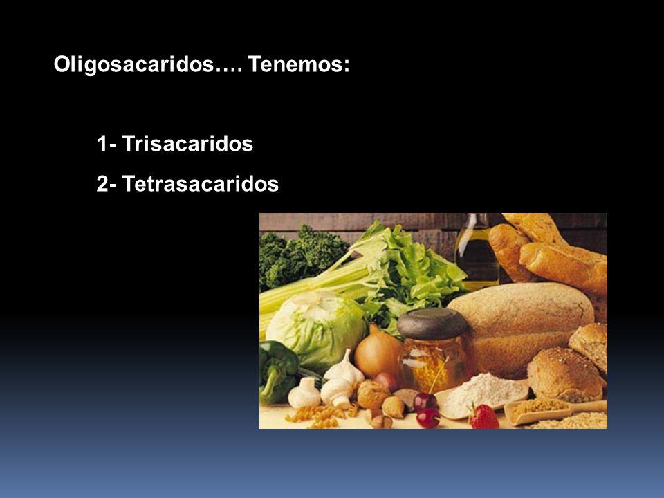 c) Oligosacáridos Los oligosacáridos forman parte de los glucolípidos y glucoproteínas que se encuentran en la superficie externa de la membrana plasm