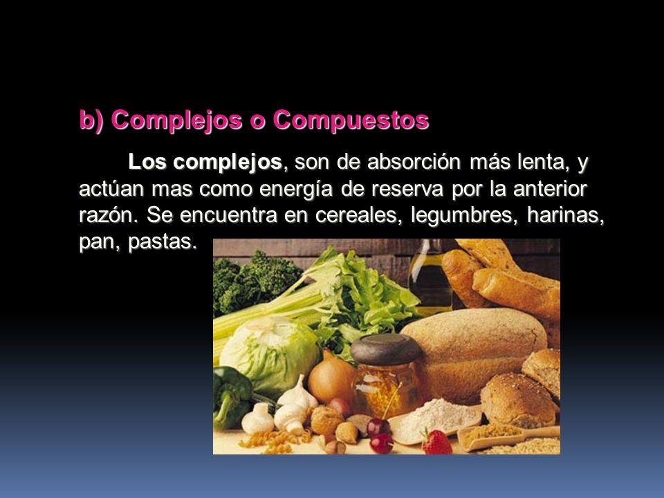 a) Simples Los simples, son azúcares de rápida absorción y son energía rápida. Estos generan la inmediata secreción de insulina. Se encuentran en los