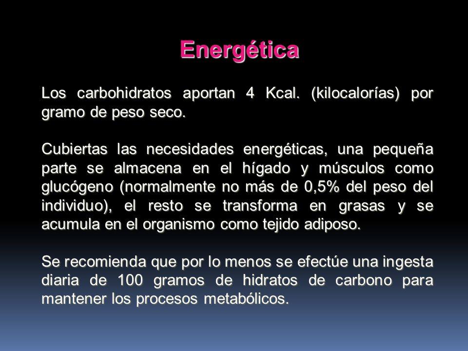 Las funciones que cumple en el organismo son: 1- Energéticas 2- De ahorro de proteínas 3- Regulan el metabolismo de las grasas 4- Estructural. 4- Estr