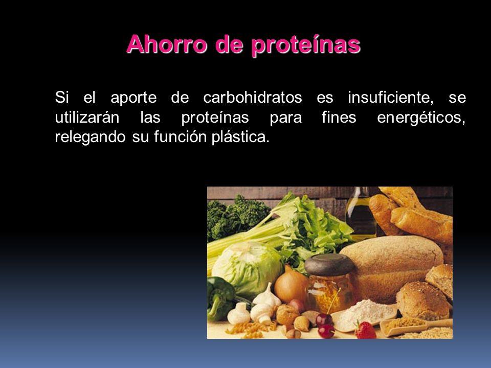 Los carbohidratos aportan 4 Kcal. (kilocalorías) por gramo de peso seco. Cubiertas las necesidades energéticas, una pequeña parte se almacena en el hí