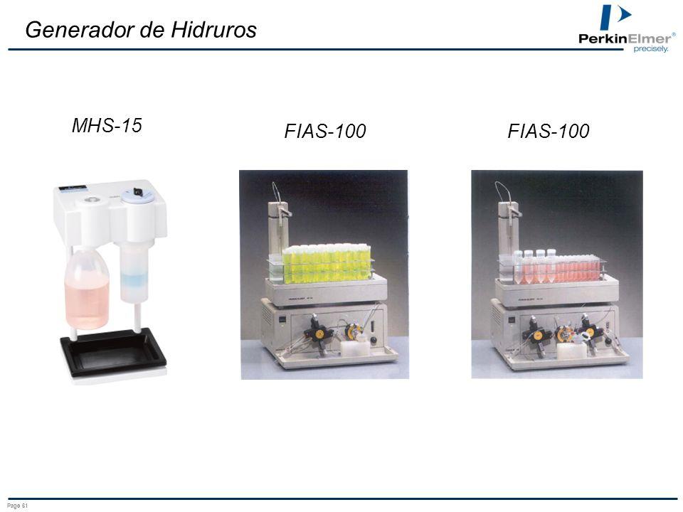 Page 61 Generador de Hidruros FIAS-100 MHS-15 FIAS-100
