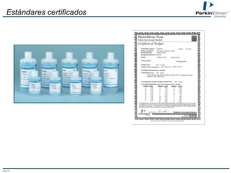 Page 65 Estándares certificados