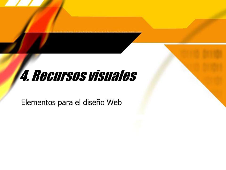 4. Recursos visuales Elementos para el diseño Web