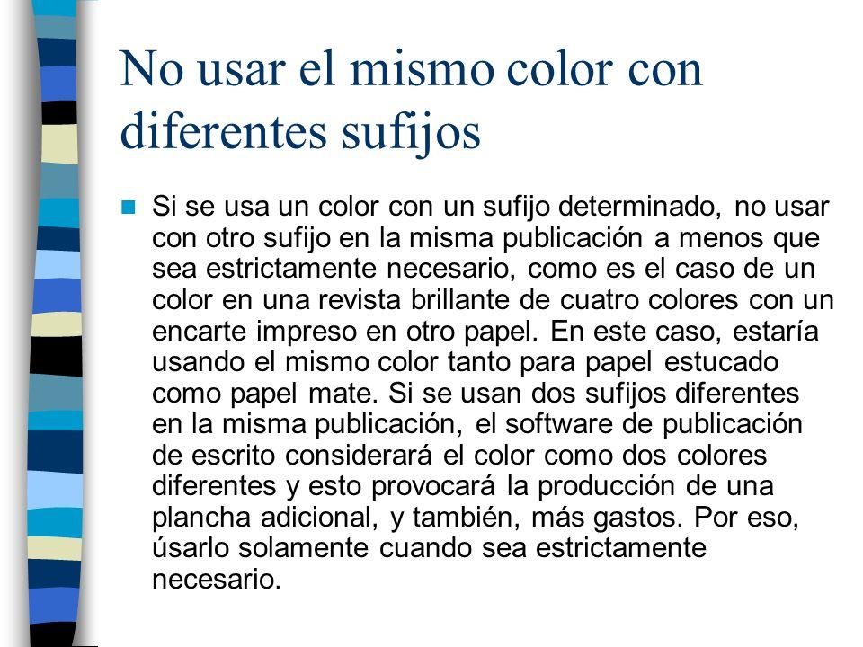 Pantone Solid Coated Se emplea para papel estucado como Couché (El de revista).C