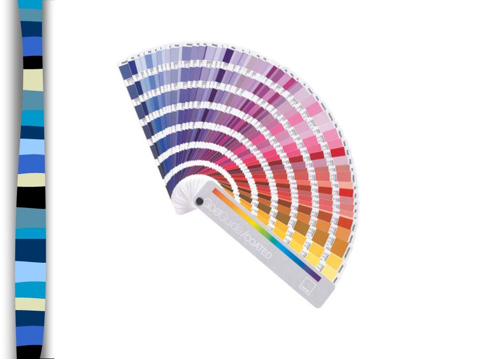 El sistema se basa en una paleta o gama de colores.