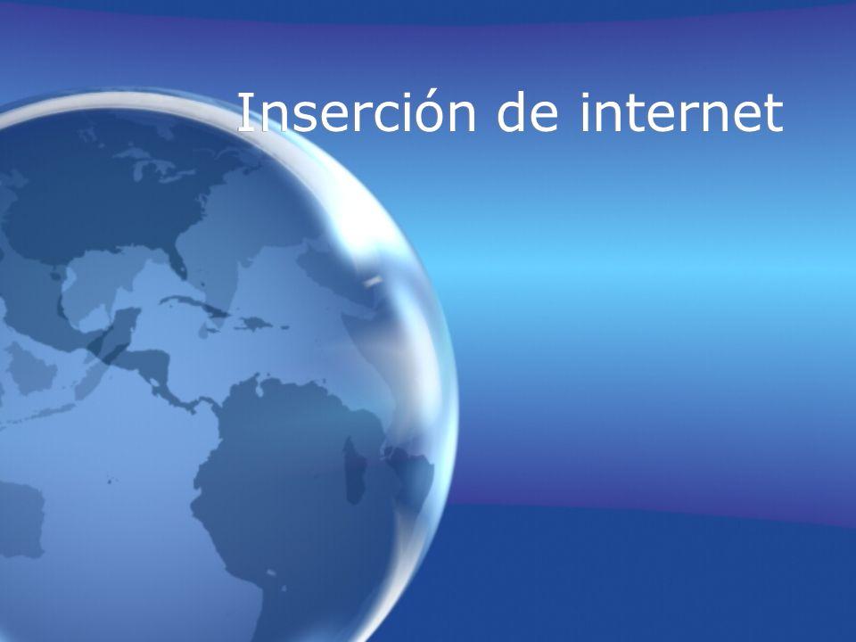 Inserción de internet