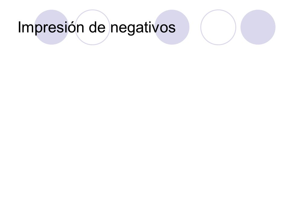 Impresión de negativos