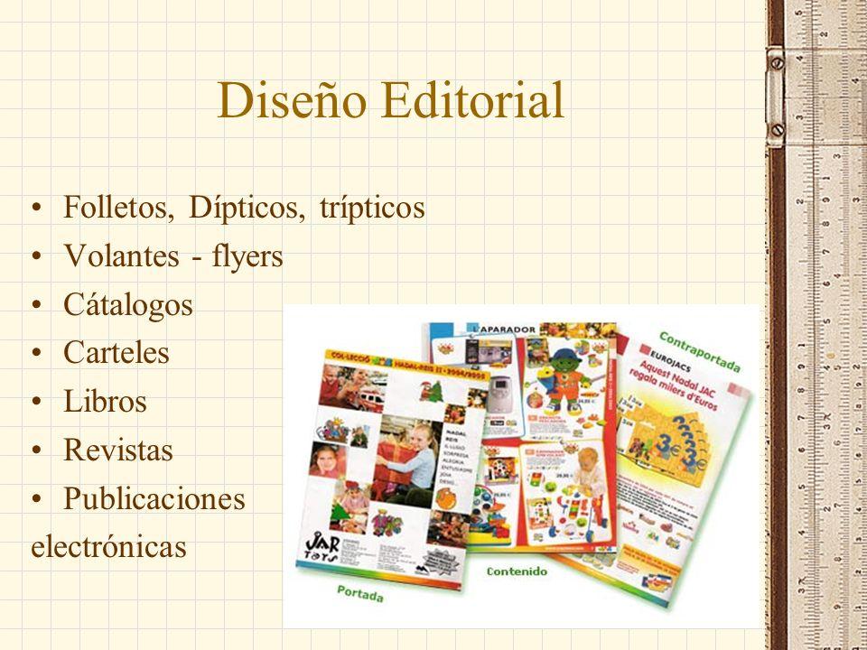 Diseño Editorial Folletos, Dípticos, trípticos Volantes - flyers Cátalogos Carteles Libros Revistas Publicaciones electrónicas