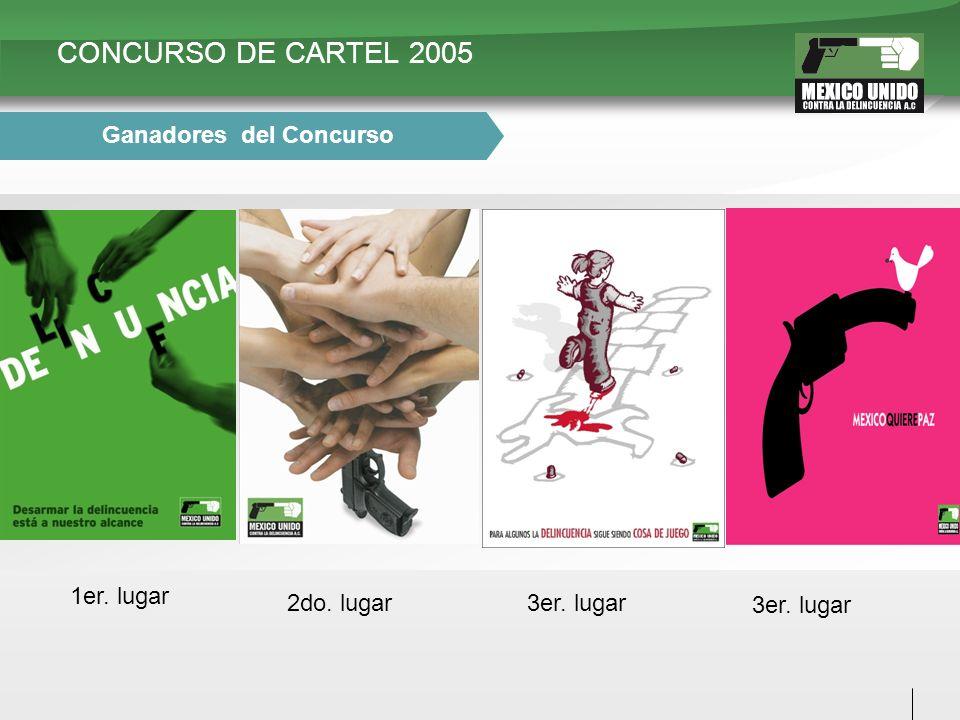 CONCURSO DE CARTEL 2005 1er. lugar 2do. lugar3er. lugar Ganadores del Concurso