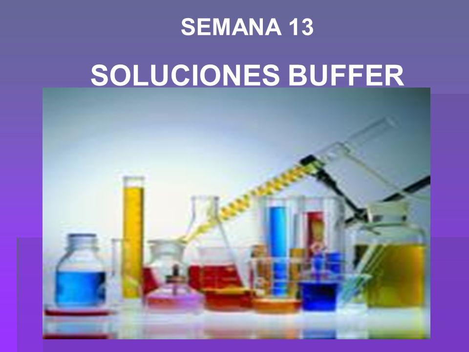 Una solución Reguladora, Buffer, Tampón o Amortiguadora es: un sistema que tiende a mantener el pH casi constante cuando se agregan pequeñas cantidades de ácidos (H + ) ó bases (OH - ).