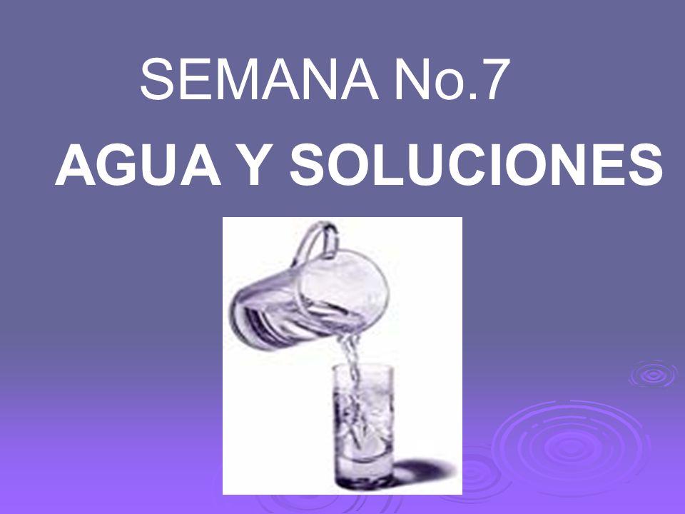 AGUA Y SOLUCIONES SEMANA No.7
