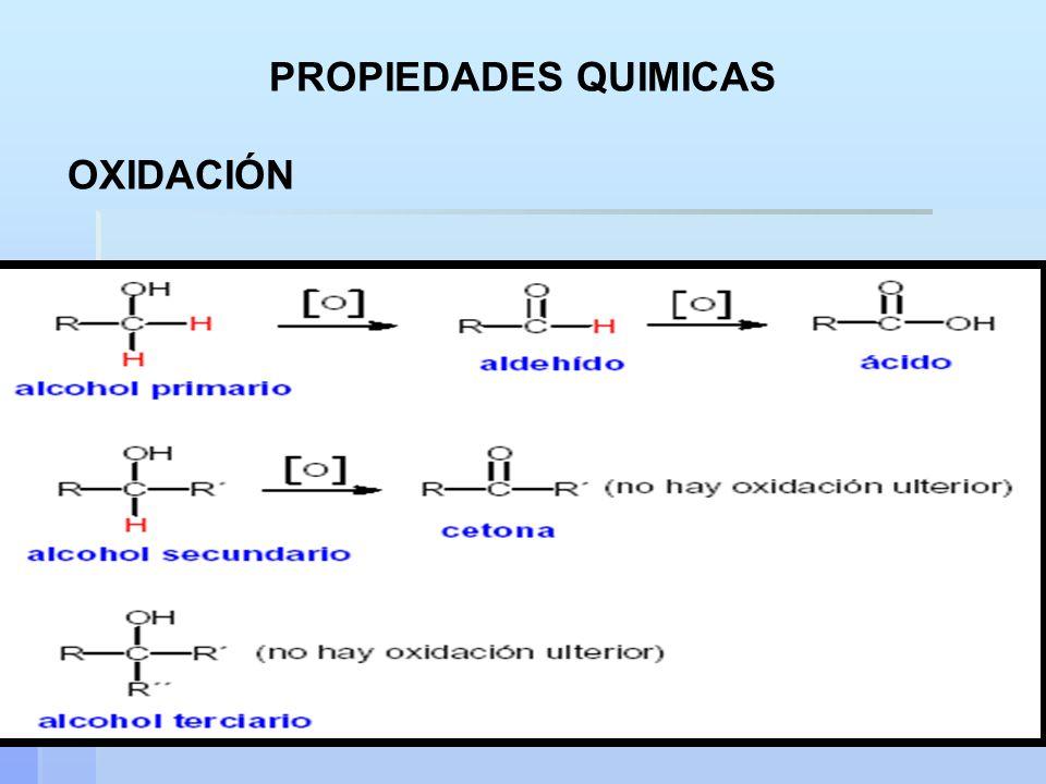 PROPIEDADES QUIMICAS OXIDACIÓN