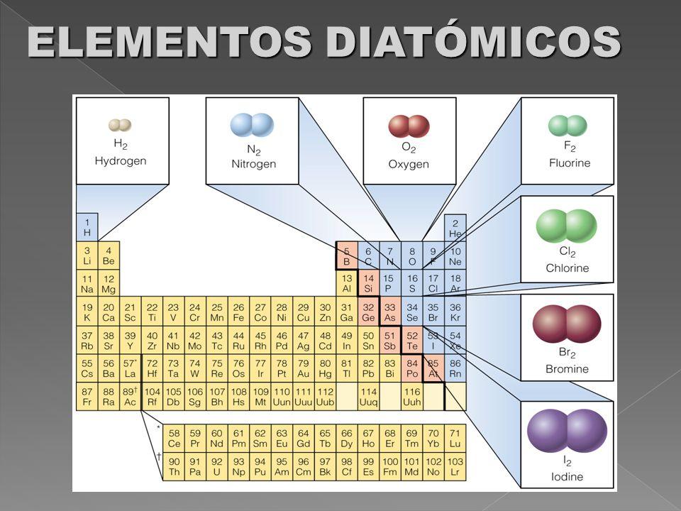 ELEMENTOS DIATÓMICOS
