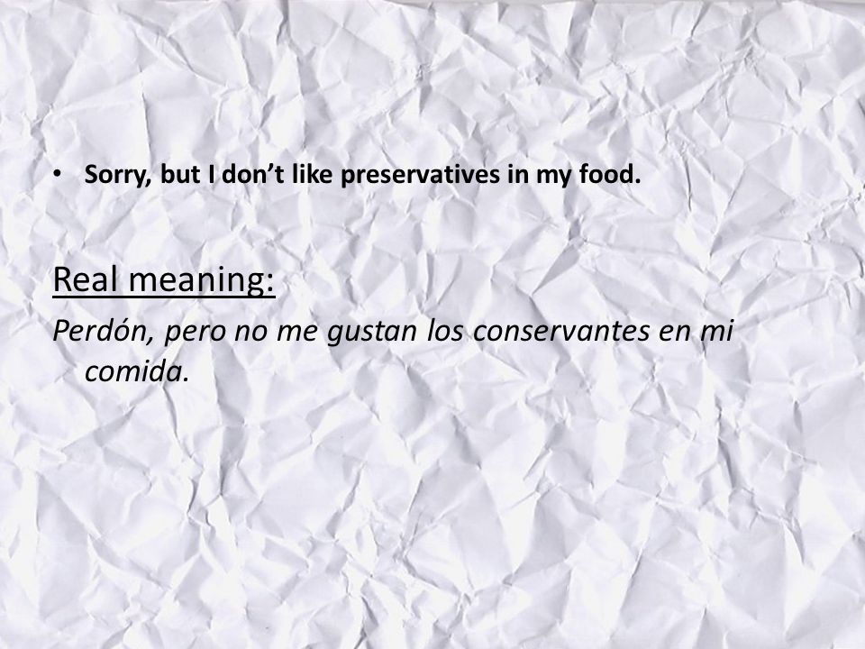 Sorry, but I dont like preservatives in my food.