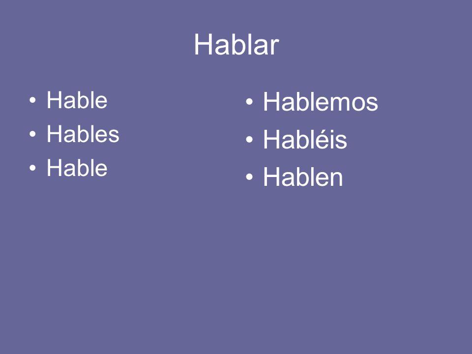 Los verbos de –ER/IR Usamos la forma de YO del verbo y agregamos las terminas de los verbos de –AR.